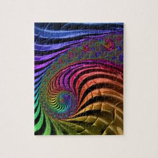 ユニークで、色彩豊かなフラクタルのジグソーパズル ジグソーパズル