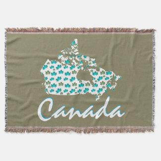 ユニークなおもしろいのカナダのかえでのカナダの投球毛布 スローブランケット