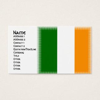 ユニークなアイルランドの旗のデザインの名刺 名刺