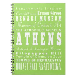 ユニークなアテネ、ギリシャのギフトのアイディア ノートブック