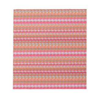 ユニークなインドからのマイソールの絹生地のプリントパターン ノートパッド