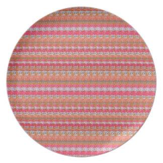 ユニークなインドからのマイソールの絹生地のプリントパターン プレート