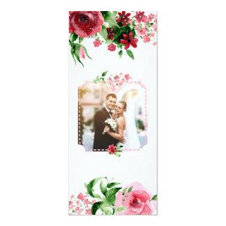 ユニークなカスタムな写真の結婚式招待状カード花柄 カード