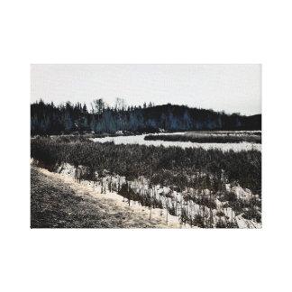 ユニークなキャンバスの壁の芸術-冬の景色 キャンバスプリント