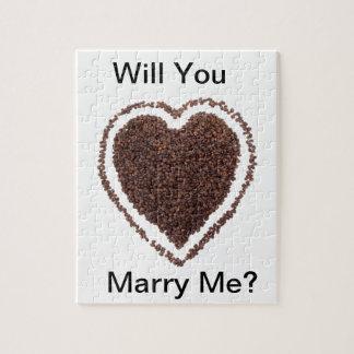 ユニークなコーヒーの恋人のハートのギフトの現在の結婚 ジグソーパズル