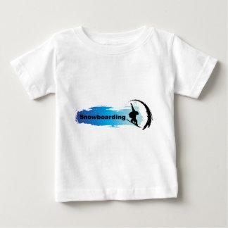 ユニークなスノーボード ベビーTシャツ
