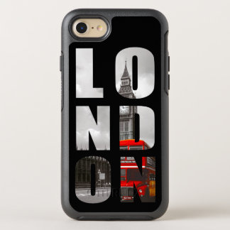 ユニークなタイポグラフィのロンドン都市写真の写真 オッターボックスシンメトリーiPhone 7 ケース