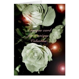 """""""ユニークなバレンタインのためのユニークなカード"""" -バラか球体 カード"""