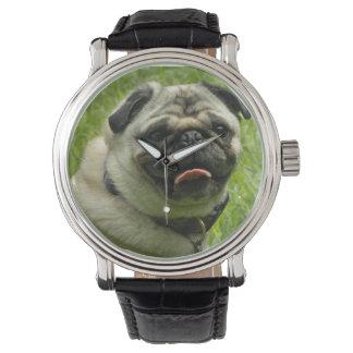 ユニークなパグの腕時計 腕時計