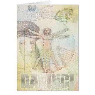 ユニークなレオナルド・ダ・ヴィンチVitruvianの人のコラージュ カード