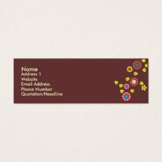 ユニークなレトロの花の接触カード スキニー名刺