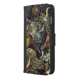 ユニークなヴィンテージの抽象芸術の花 iPhone 6/6S PLUS ウォレットケース