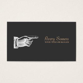 ユニークなヴィンテージの黒ビジネス 名刺