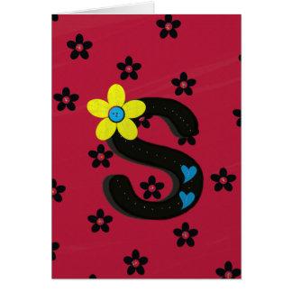"""ユニークな手紙""""S"""" Notecard カード"""