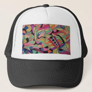 ユニークな抽象的概念は着色されるすべてを設計します キャップ