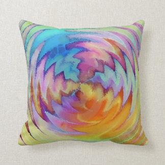 ユニークな水彩画の枕 クッション