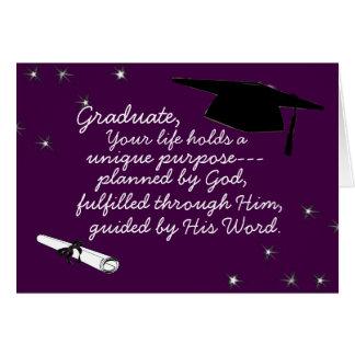 、ユニークな目的が計画したあなたの生命把握卒業させて下さい グリーティングカード
