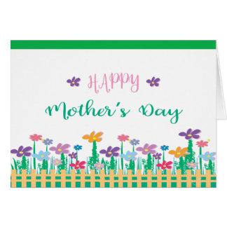 ユニークな花が付いている幸せな母の日の❤️ カード