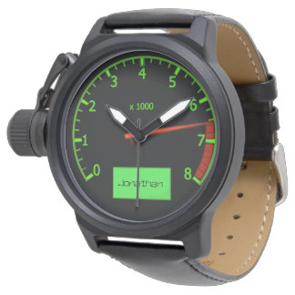 ユニークな車整備士の運転者 腕時計