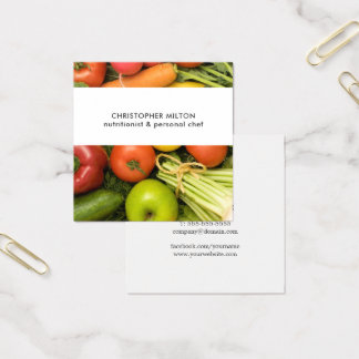 ユニークな野菜の栄養士 スクエア名刺