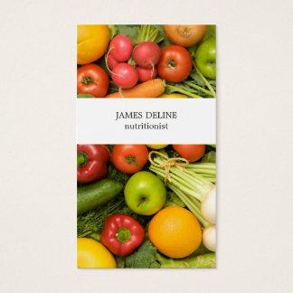 ユニークな野菜の栄養士 名刺