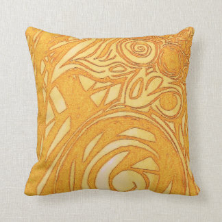 ユニークな金ゴールドのつる植物の枕 クッション