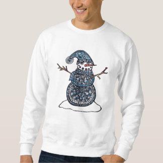 ユニークな雪だるまのスエットシャツ スウェットシャツ