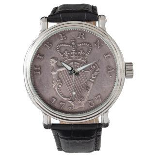 ユニークな1737アイルランドHIBERNIAの硬貨の腕時計 腕時計