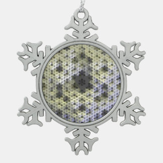 ユニークな3D雪片のオーナメント スノーフレークピューターオーナメント