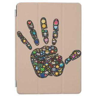 ユニークなEmoji芸術のhandprintのiPadの援護爆撃 iPad Air カバー