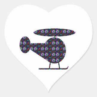 ユニークなHELICOPTORの航空おもちゃ旅行NVN546ギフト ハートシール