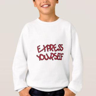ユニーク、明白があなた自身あって下さい スウェットシャツ