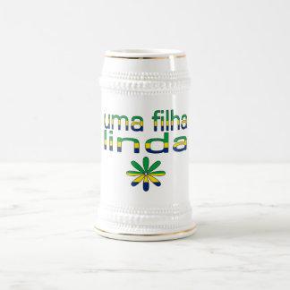 ユマのFilhaリンダブラジルの旗色 ビールジョッキ