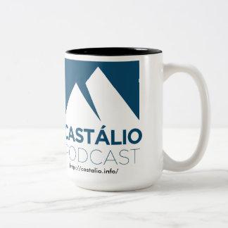 ユマcaneca de cafe?はCastálioをします! ツートーンマグカップ