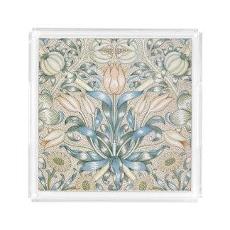 ユリおよびザクロのヴィンテージの花の芸術のデザイン アクリルトレー