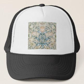 ユリおよびザクロのヴィンテージの花の芸術のデザイン キャップ