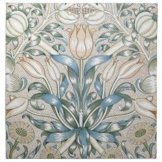 ユリおよびザクロのヴィンテージの花の芸術のデザイン ナプキンクロス
