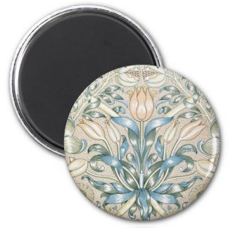 ユリおよびザクロのヴィンテージの花の芸術のデザイン マグネット