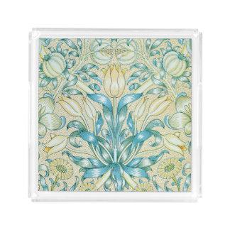 ユリおよびザクロのヴィンテージの花柄 アクリルトレー