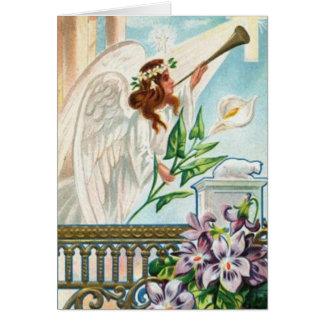 ユリおよびトランペットとの天使 カード