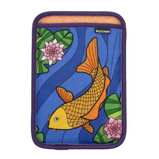 ユリが付いている水の日本様式のコイ iPad MINIスリーブ