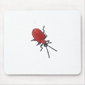 ユリのカブトムシのスケッチ マウスパッド