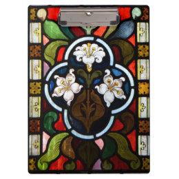 ユリのステンドグラス教会窓コーンウォール クリップボード