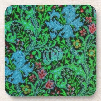 ユリのヴィンテージの花柄パターン コースター