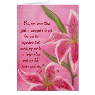ユリの介護者の感謝カード カード
