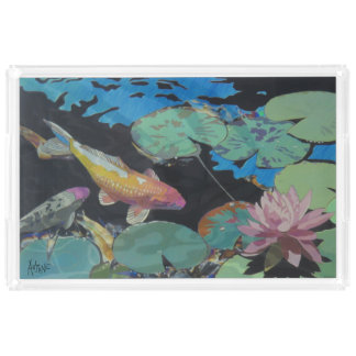 ユリの池のアクリルの皿のコイの魚 アクリルトレー