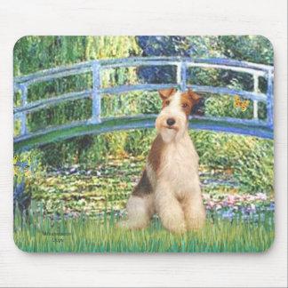ユリの池橋-ワイヤーフォックステリア犬3 マウスパッド