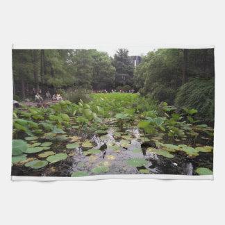 ユリの池 キッチンタオル