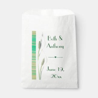 ユリの緑及び白い結婚式 フェイバーバッグ