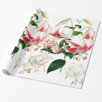 ユリの花の包装紙 ラッピングペーパー